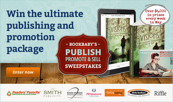 Win the ultimate publishing and promotion package. Enter BookBaby's Publish, Promote, Sell Sweepstakes and win over $5,000 in prizes every week in May