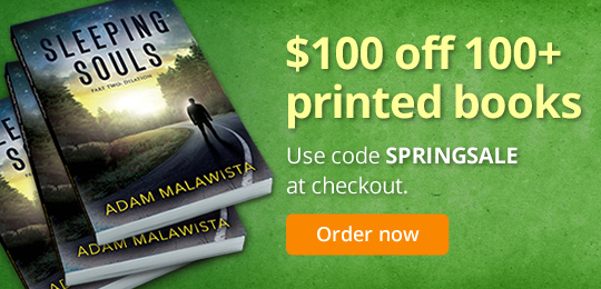 $100 off 100+ printed books: Use code SPRINGSALE at checkout.