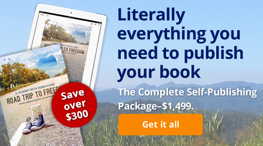 Literally everything you need to publish your book: The Complete Self-Publishing Package—$1,499.