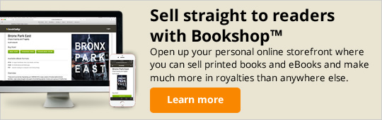 Sell straight to readers with Bookshop. Open up your personal online storefront where you can sell printed books and eBooks and make much more in royalties than anywhere else.