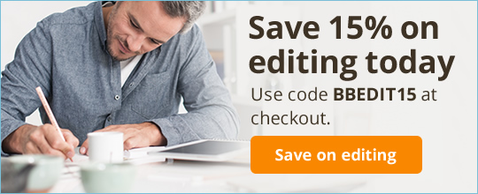 Save 15% on editing today. Use code BBEDIT15 at checkout.
