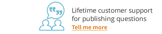 Lifetime customer support for all your publishing questions