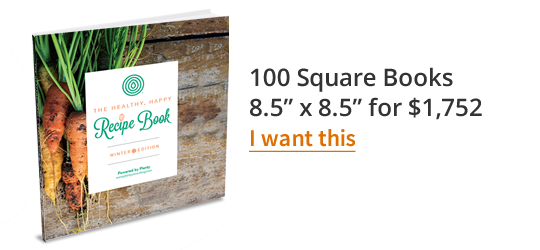 "100 Small Square Books 7.5"" x 7.5"" for $1,772"