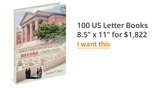 "100 US Letter Books 8.5"" x 11"" for $1,822"