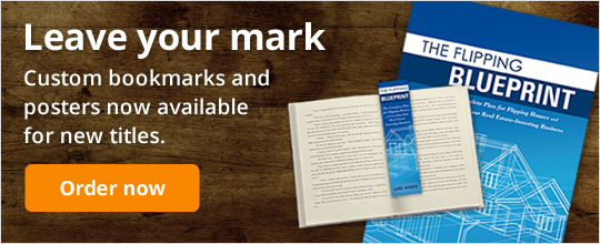 Leave your mark. Custom bookmarks and posters now available for new titles.