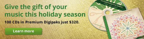 Give the gift of your music this holiday season. 100 CDs in Premium Digipaks just $320.