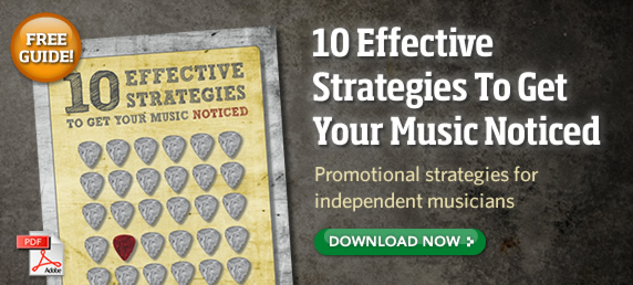 10 effective strategies to get your music noticed.                                                               Promotional strategies for independent musicians.