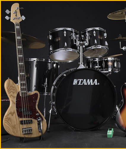Enter the Power Trio Giveaway! Over $5,000 in prizes. Add some brand new gear to your setup from Ibanez and Tama.