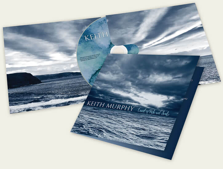Keith Murphy – Land of Fish and Seals Eco-Wallet with custom CD design