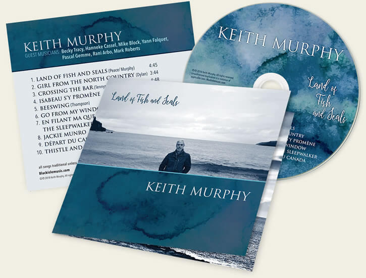 Keith Murphy – Land of Fish and Seals album cover design