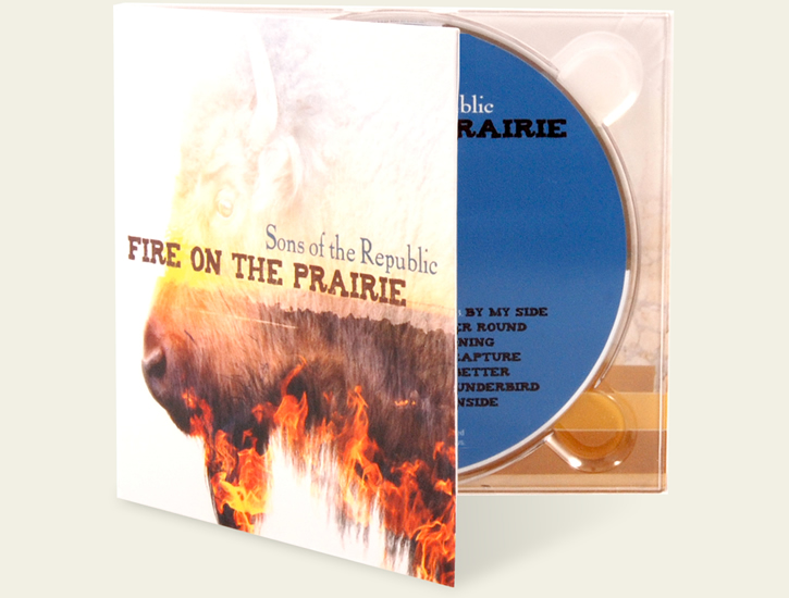 Sons of the Republic – Fire on the Prairie custom CD design