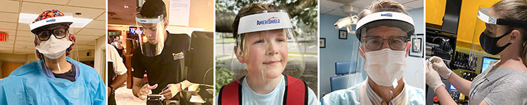 AmeriShield face shields are made for use in these industries