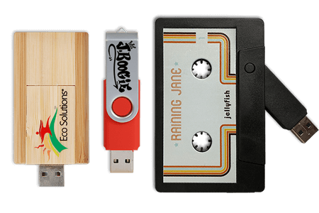 Custom-printed USBs as low as $3.49 each.