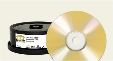 Falcon 8x Hard Coat 24K Gold Archival Blank DVD-Rs