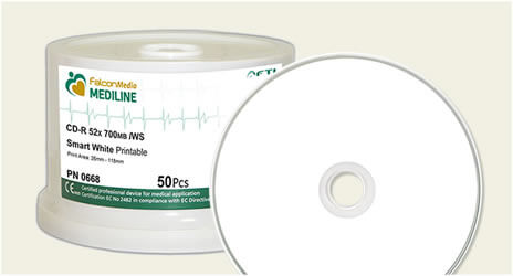 Falcon SmartGuard, White Inkjet, Medical Grade CD-Rs