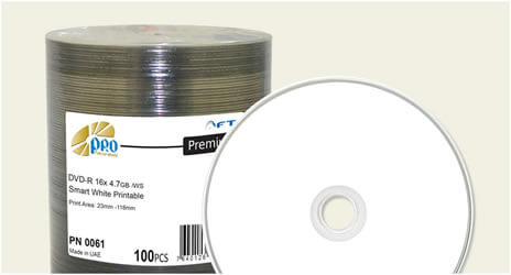 Falcon 16x Smart White Inkjet Full Coverage DVD-Rs