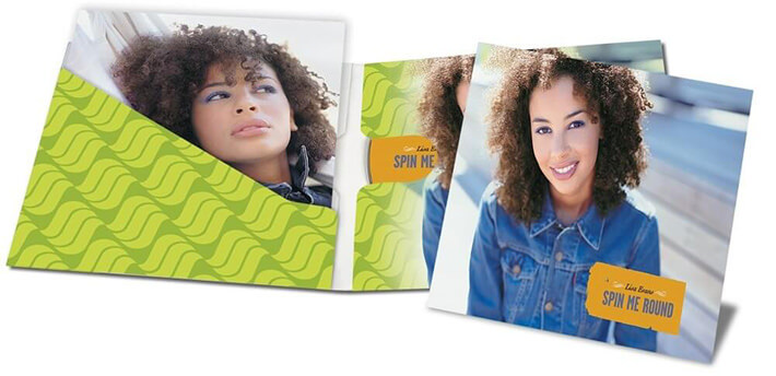 4-panel CD wallets with pocket and 2-panel insert