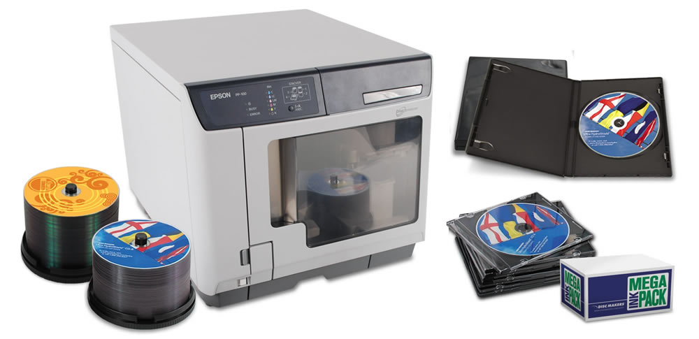 Epson Discproducer automated CD/DVD Duplicator bundle