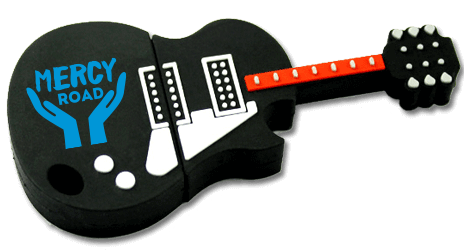 Custom 3D flash Drive shaped like a Guitar
