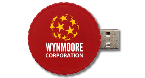 Twist USB drive with a custom logo