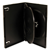Black 3-Disc DVD Cases